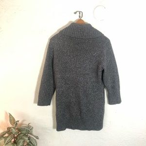 BCX Sweaters - BCX sparkly grey turtleneck sweater